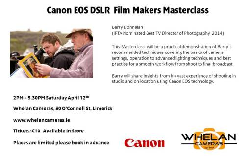 whelans DSLR workshop